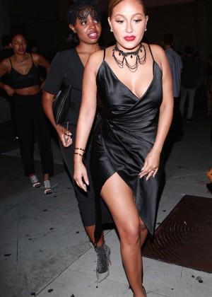 Adrienne Bailon at 1OAK Nightclub in Los Angeles