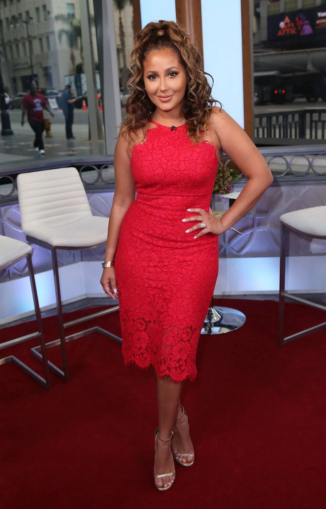 Adrienne Bailon at Hollywood Today Live in West Hollywood