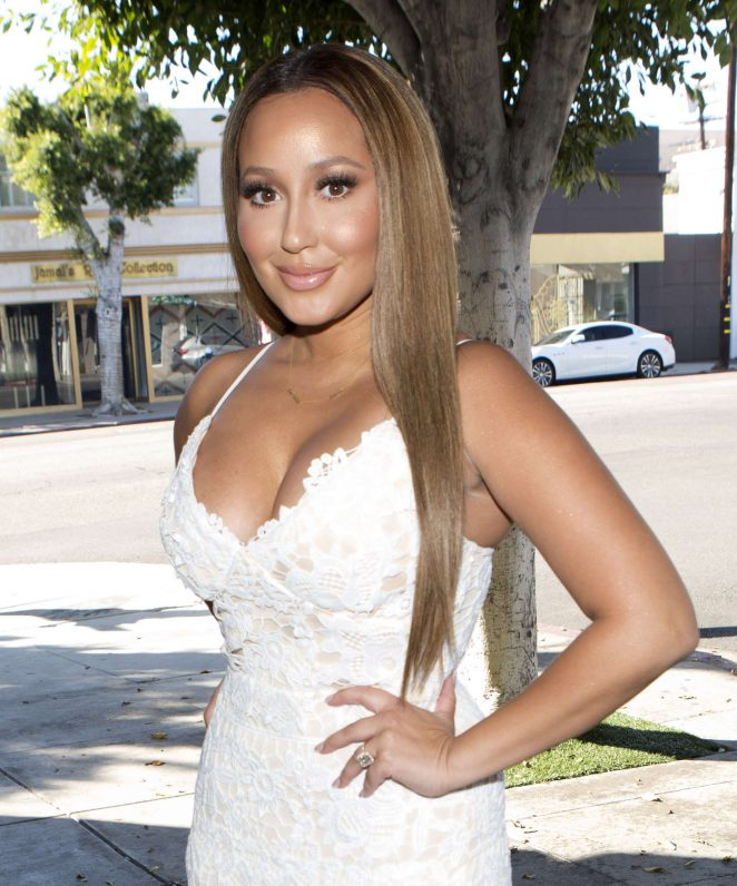 Adrienne Bailon at The Fig and Olive Restaurant in West Hollywood