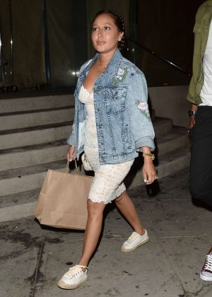 Adrienne Bailon out for dinner in West Hollywood