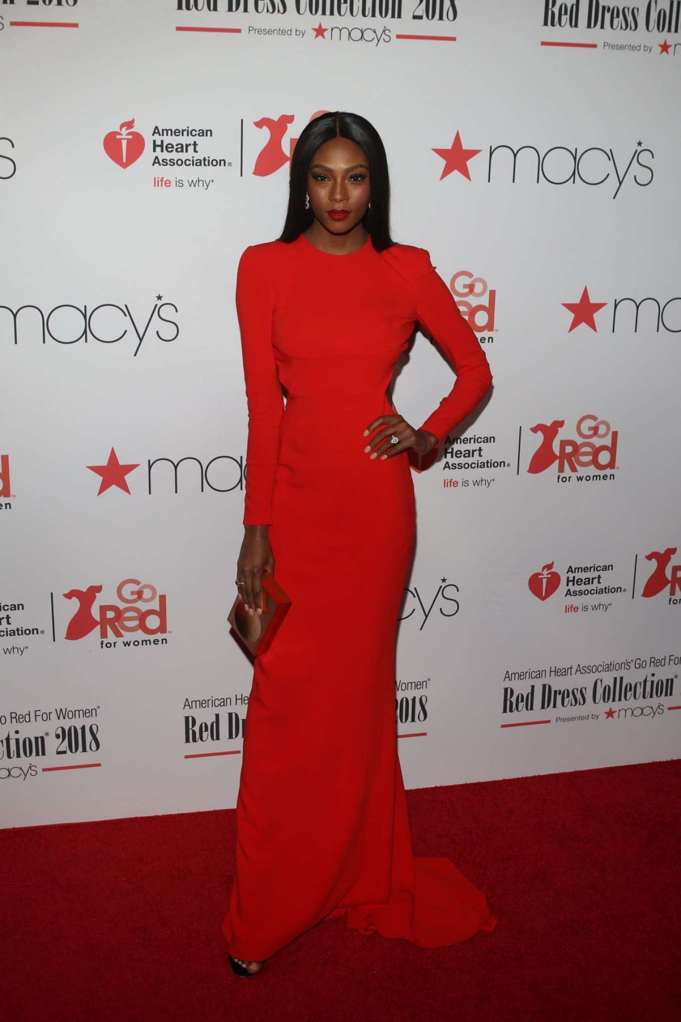 Afiya Bennett - American Heart Association's Go Red for Women Red Dress Collection 2018 in NY