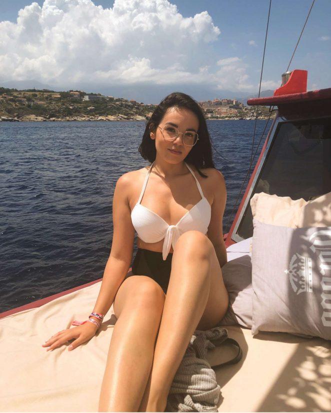 Agathe Auproux in Bikini in Corsica