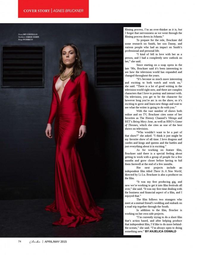 Agnes Bruckner - Cliche Magazine (April/May 2015)