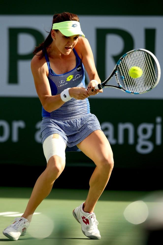 Agnieszka Radwanska: BNP Paribas Open 2016 in Indian Wells -01