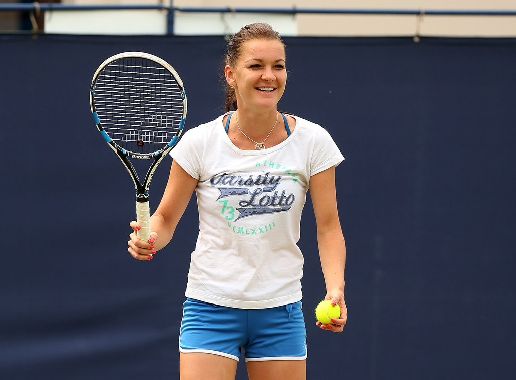 Hot agnieszka radwanska practices very undressed