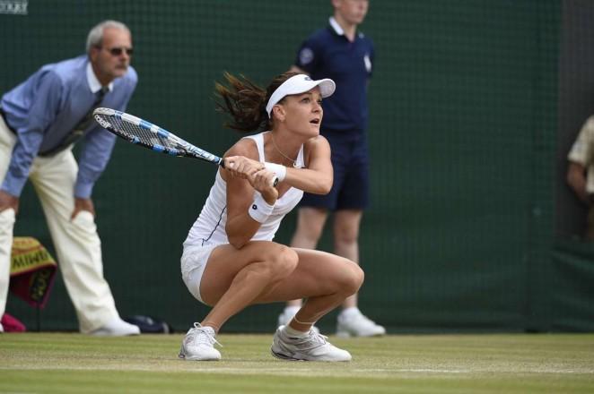 Agnieszka Radwanska: Wimbledon 2015 – Quarter Final -12