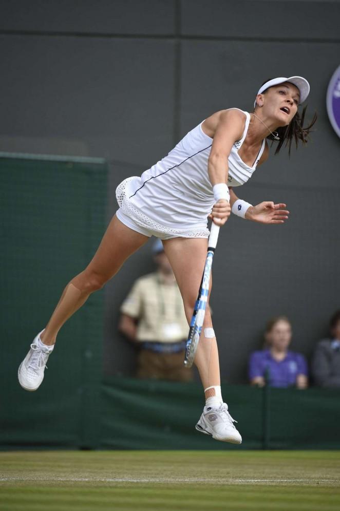 Agnieszka Radwanska: Wimbledon 2015 – Quarter Final -13