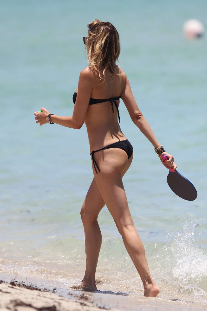 Aida Yespica in Black Bikini 2016 -11