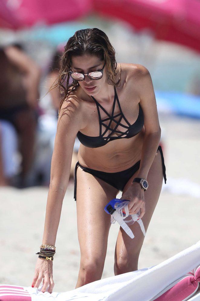 Aida Yespica in Black Bikini 2016 -15