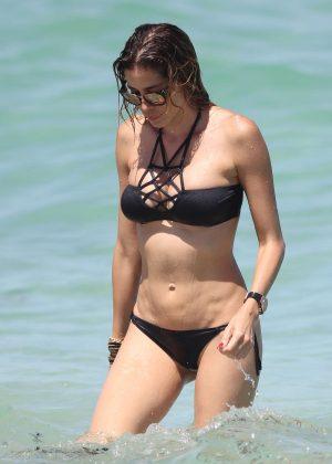 Aida Yespica in Black Bikini 2016 -18