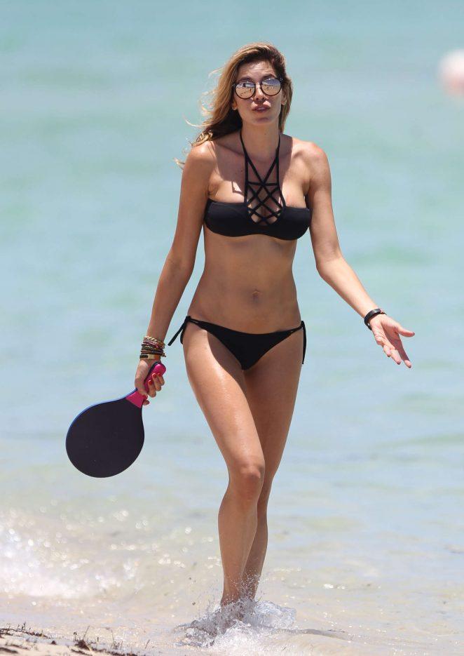 Aida Yespica in Black Bikini 2016 -33