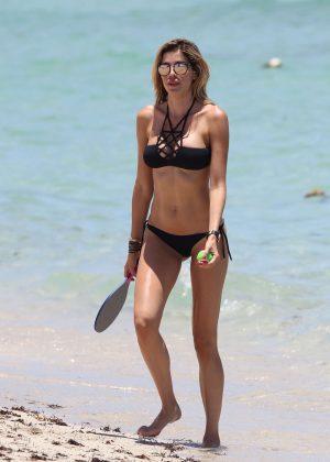 Aida Yespica in Black Bikini 2016 -34