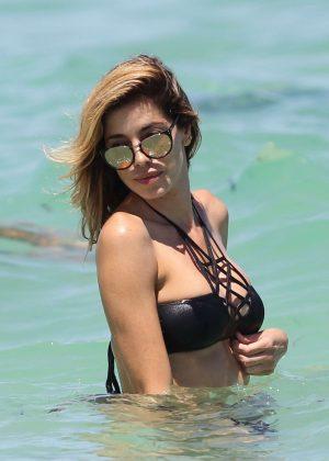 Aida Yespica in Black Bikini 2016 -37