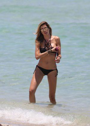 Aida Yespica in Black Bikini 2016 -38
