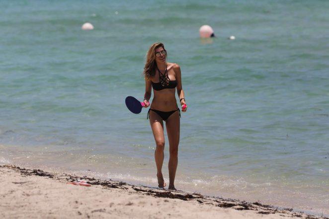 Aida Yespica in Black Bikini 2016 -41