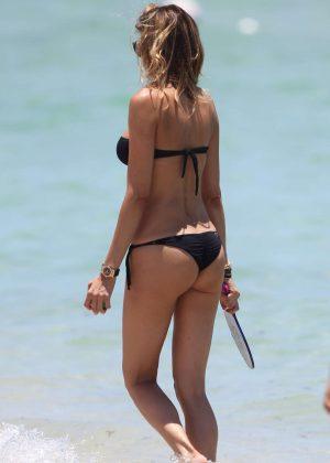 Aida Yespica in Black Bikini 2016 -45