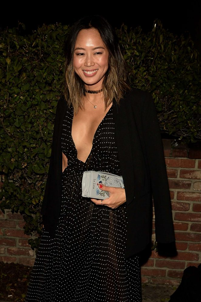 Aimee Song – Arrives at the Dior party in West Hollywood