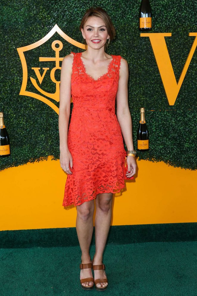 Aimee Teegarden – 2016 Veuve Clicquot Polo Classic in Pacific Palisades