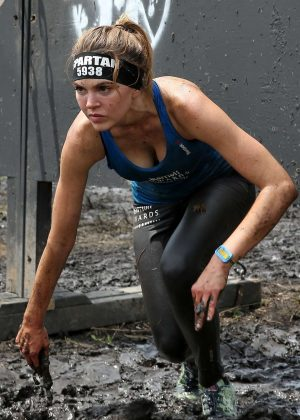 Aimee Teegarden - Competing in the Spartan Super Race in Richmond