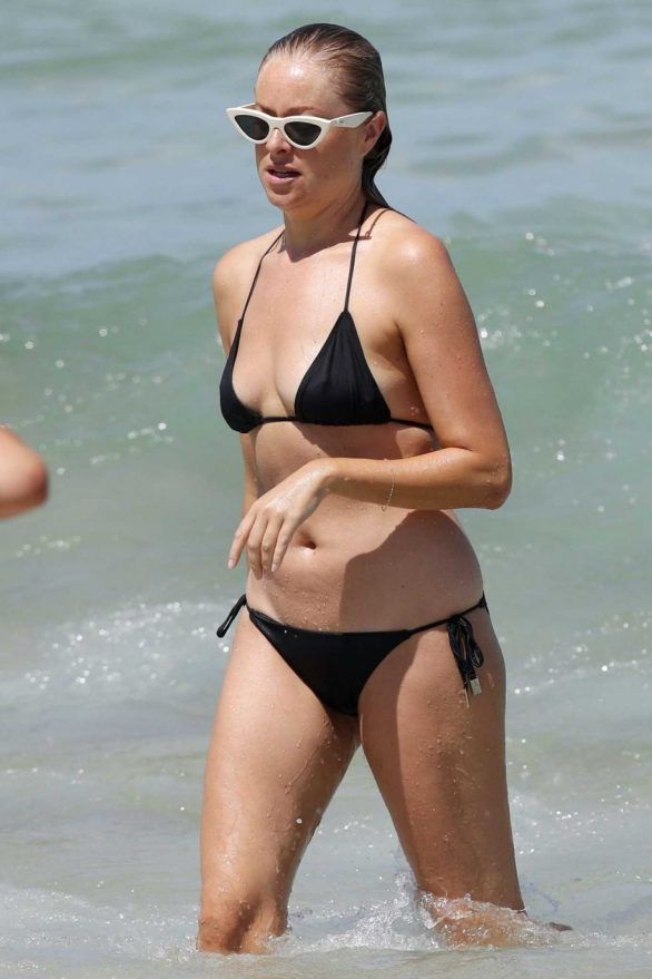 Airlie Walsh in Black Bikini on the beach in Sydney