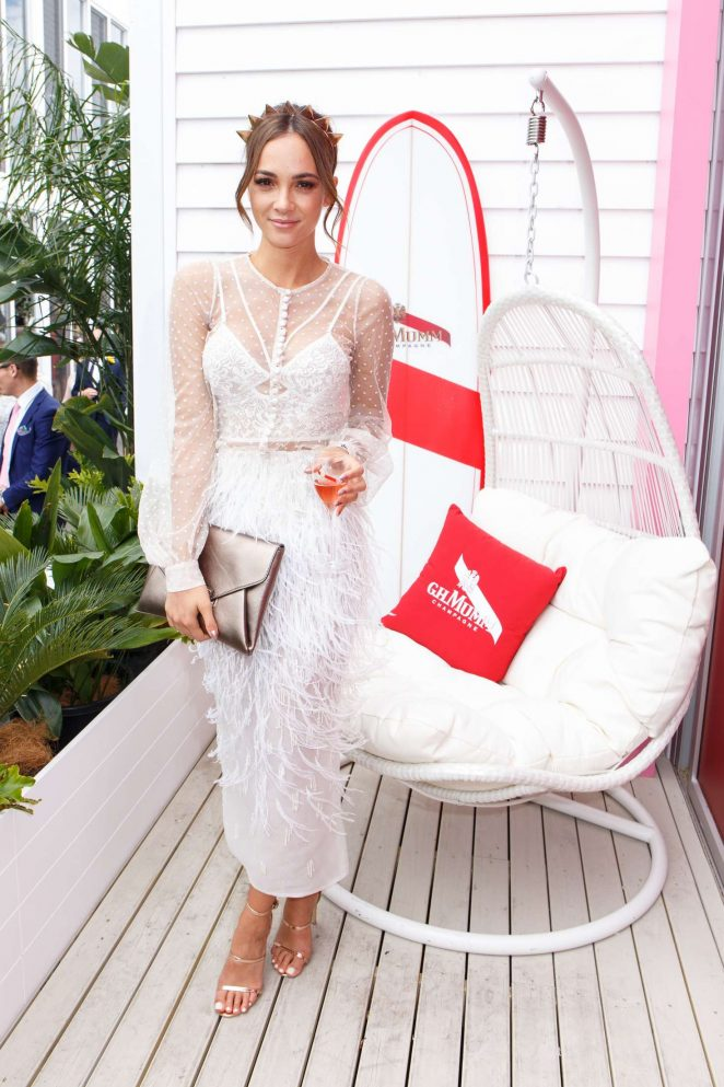 Aisha Jade - Mumm Marquee on Melbourne Cup Day in Melbourne
