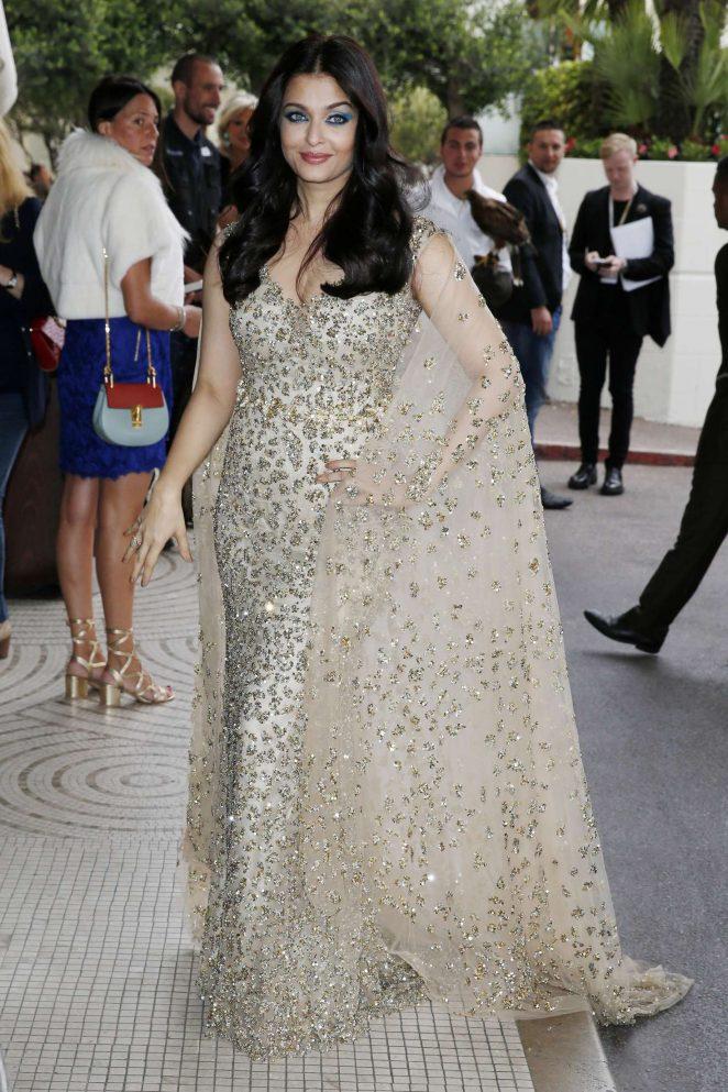 Aishwarya Rai – Leaving The Martinez Hotel in Cannes