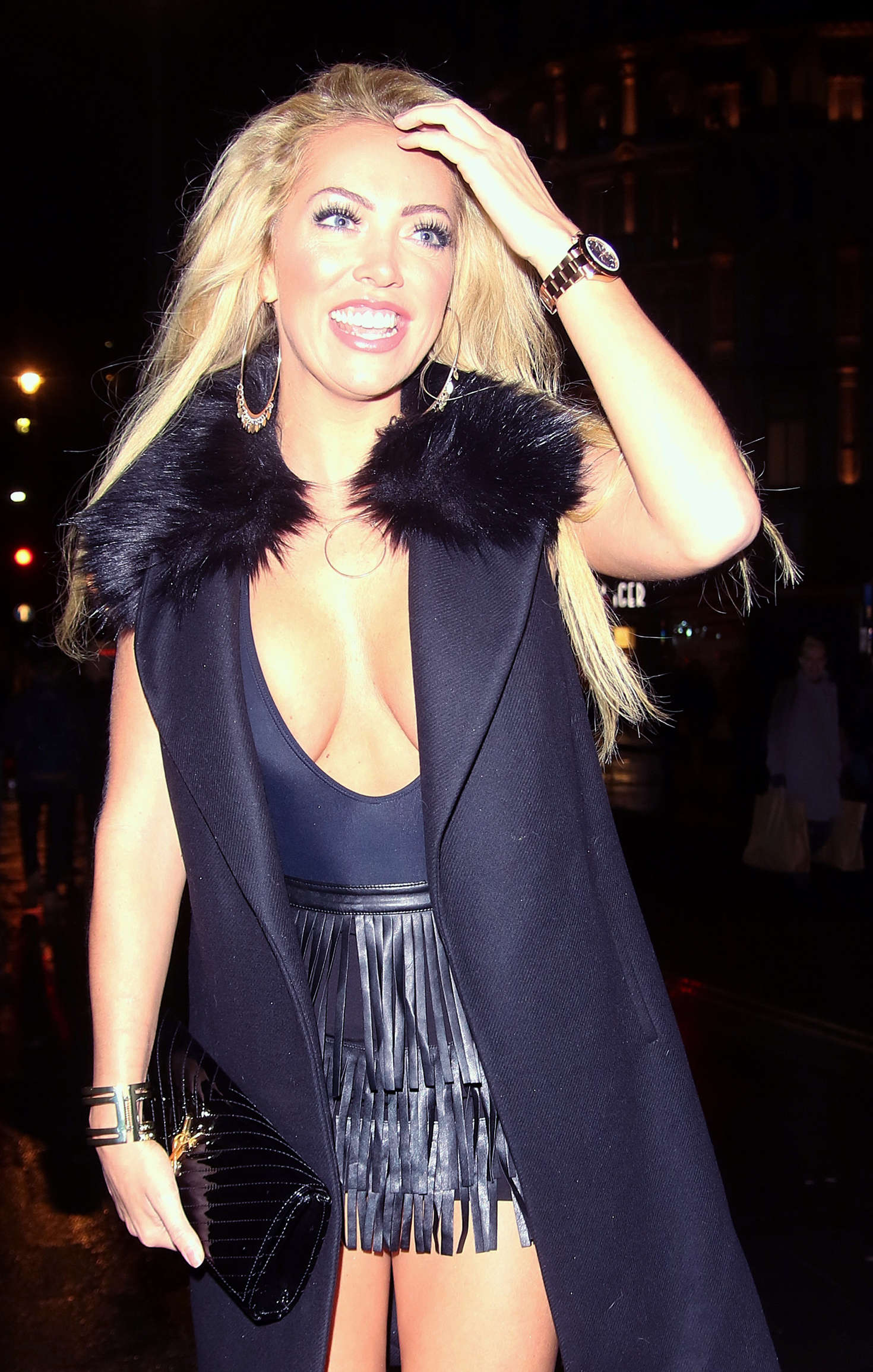 Aisleyne Horgan Wallace night out at the W Hotel in London