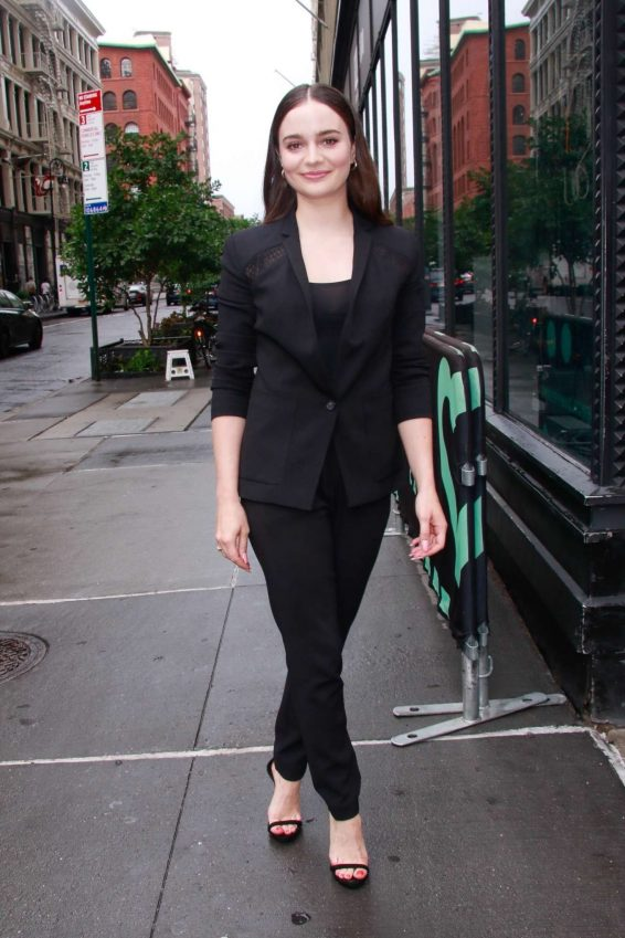 Aisling Franciosi - Arrives at Build Series in New York
