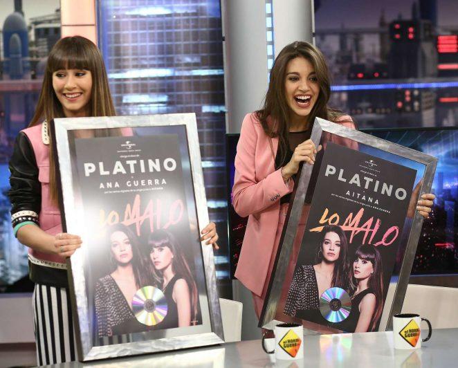 Aitana and Ana Guerra at 'El Hormiguero' TV Show in Madrid