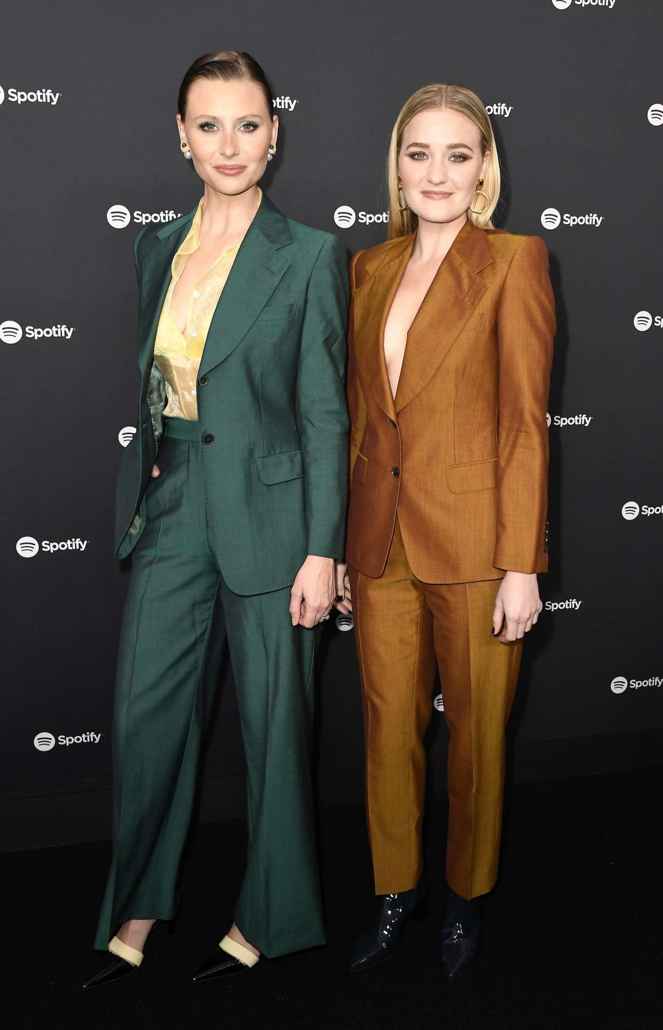 AJ Michalka 2020 : AJ Michalka and Aly Michalka – Spotify Best New Artist Party-12