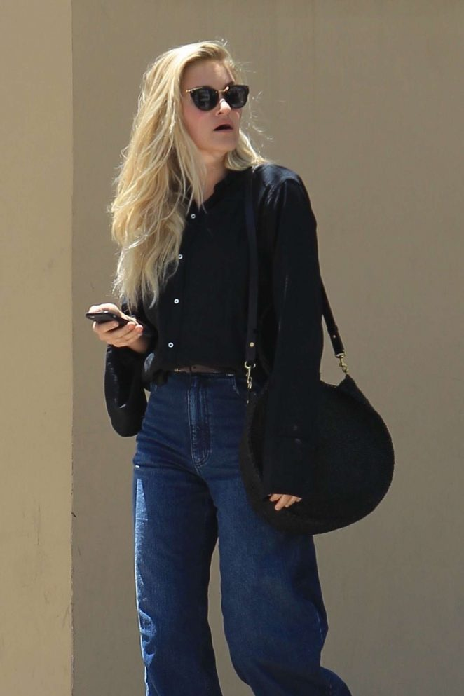 AJ Michalka at Bouchon in Beverly Hills