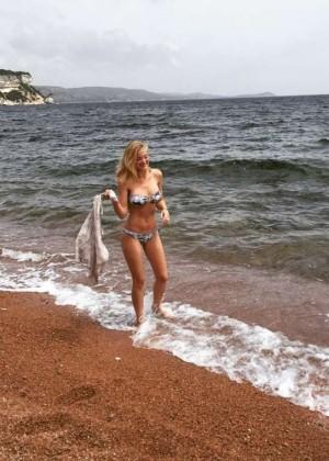 AJ Michalka - Bikini Twitpic