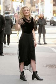 AJ Michalka - Leaves Build Series in New York City