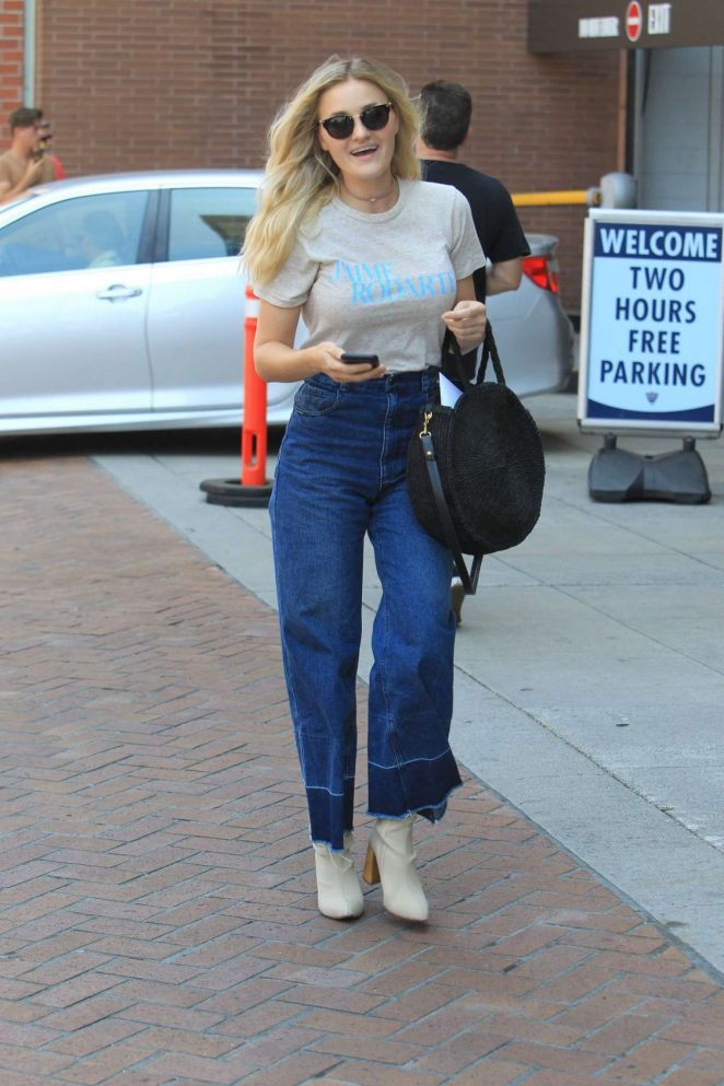 AJ Michalka Out Shopping in Beverly Hills