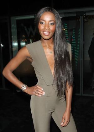 AJ Odudu - Arrives at Lottie Moss's 18th Birthday in London