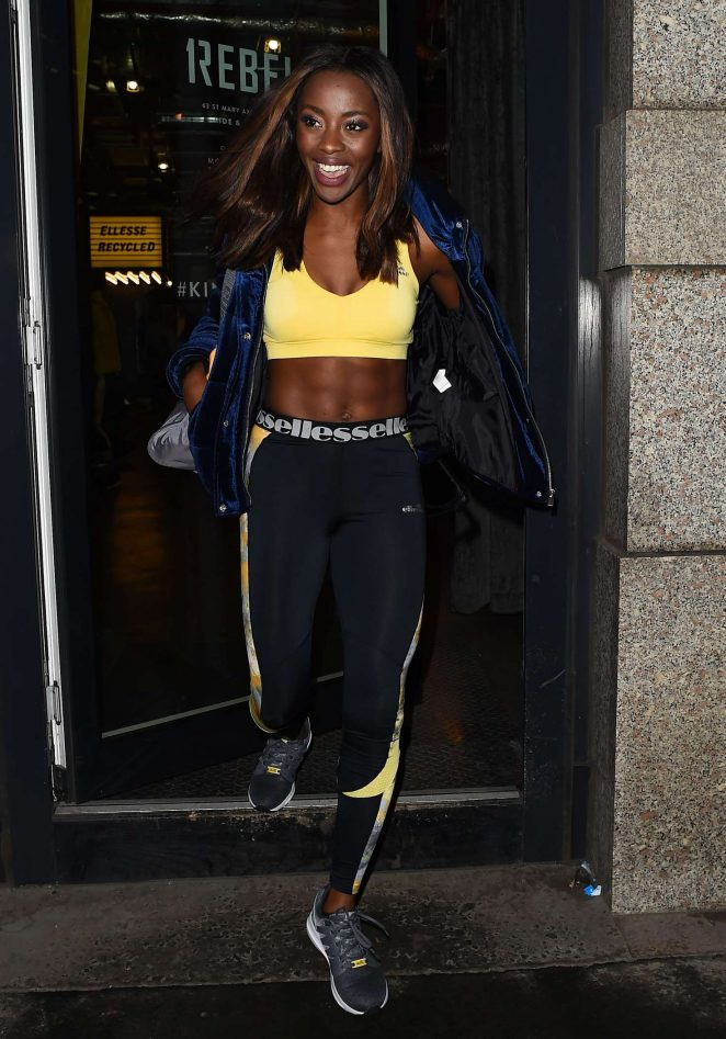 Aj Odudu - Lucy Mecklenburgh x Ellesse Recycled Collection Launch Party in London