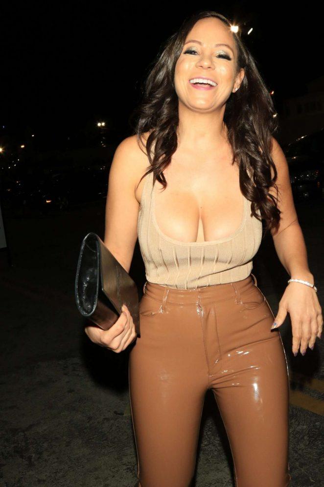 Aja Metoyer in Leather - Bardot Nightclub in Hollywood