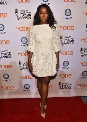 Aja Naomi King: 2015 NAACP Image Awards Non-Televised Awards Ceremony -02