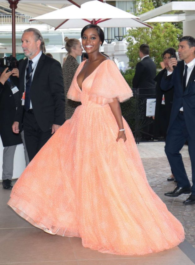 Aja Naomi King at the Martinez hotel in Cannes