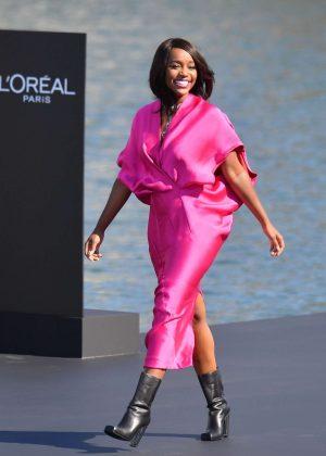 Aja Naomi King - L'Oreal Runway Show in Paris