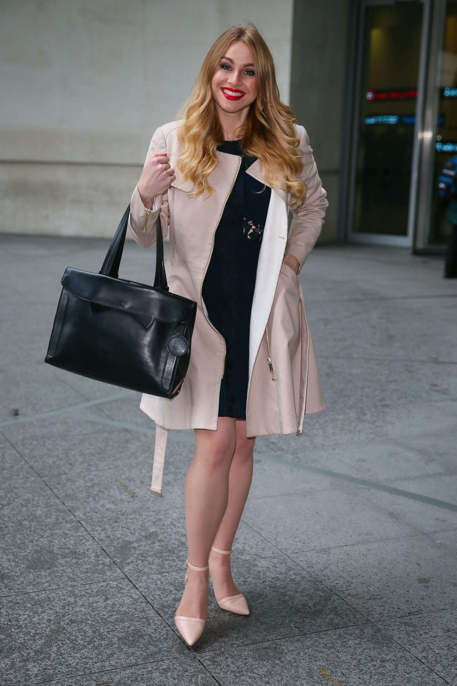 Alana Spencer - Leaving BBC TV Studios in London