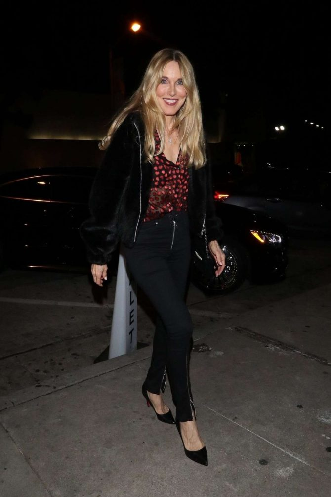 Alana Stewart - Outside Craig's Restaurant in West Hollywood