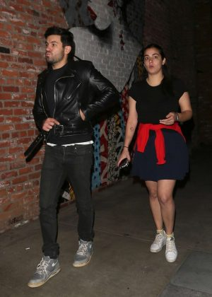 Alanna Masterson - Leaving TAO in Hollywood