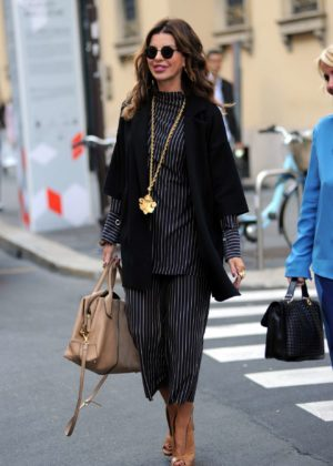 Alba Parietti - Shopping Candids at a jewelery boutique in Milan