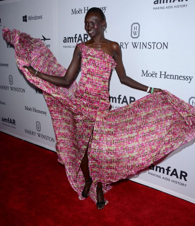 Alek Wek - 7th Annual amfAR Inspiration Gala in New York