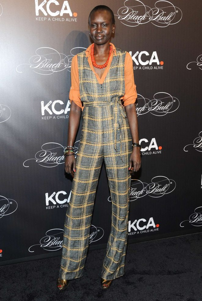 Alek Wek - Keep a Child Alive's 13th Annual Black Ball in New York
