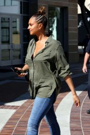 Alesha Dixon - Arriving at 'America's Got Talent' in Los Angeles