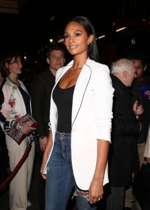 Alesha Dixon - Arriving at Stepping Out After Party in London