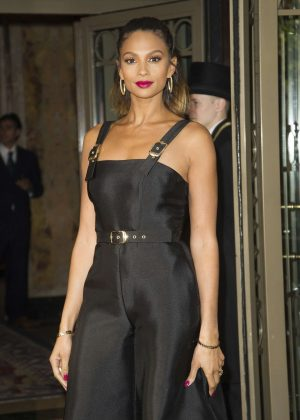 Alesha Dixon at The Westbury Hotel in London