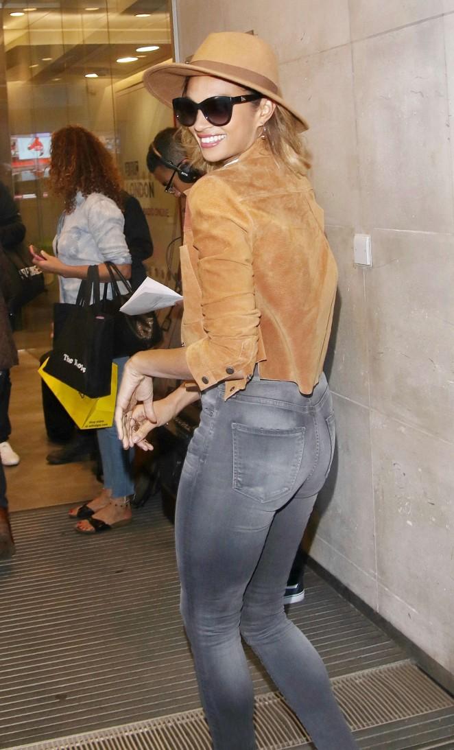 Alesha Dixon in Jeans at BBC studios in London